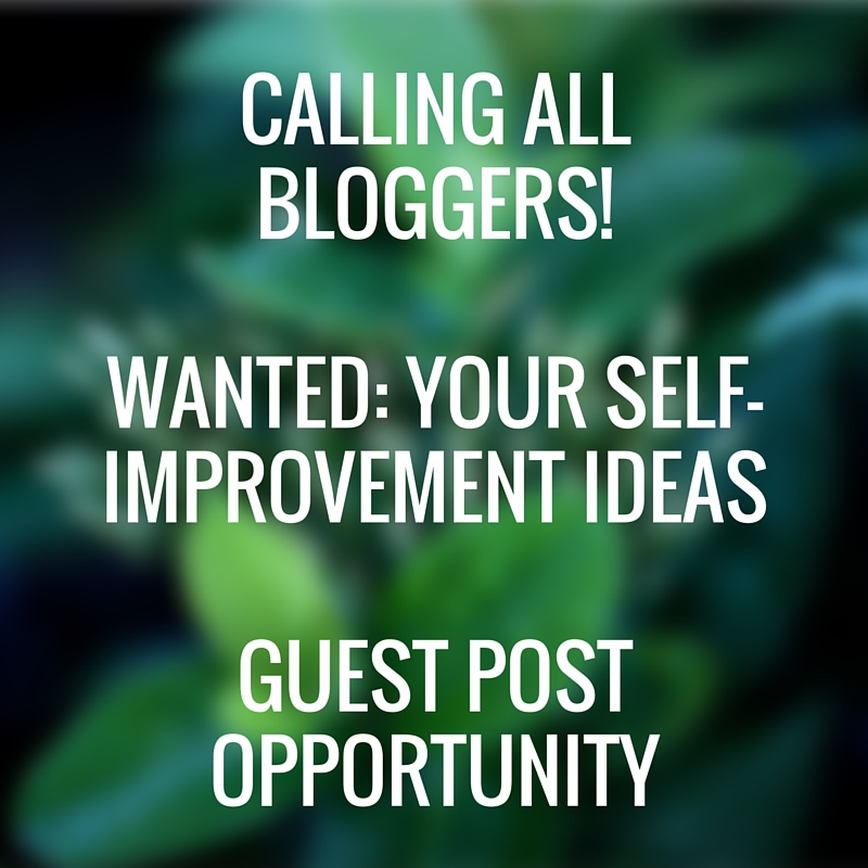 Calling All Self-Improvement Bloggers